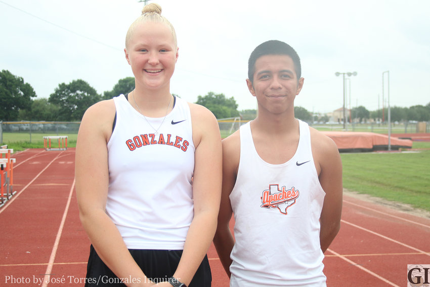 Juniors Devon Williams and Antonio Hernandez are headed to the University of Texas to compete in the UIL State Track and Field meet this weekend. This will be Williams' second straight trip to the meet and Hernandez's first.