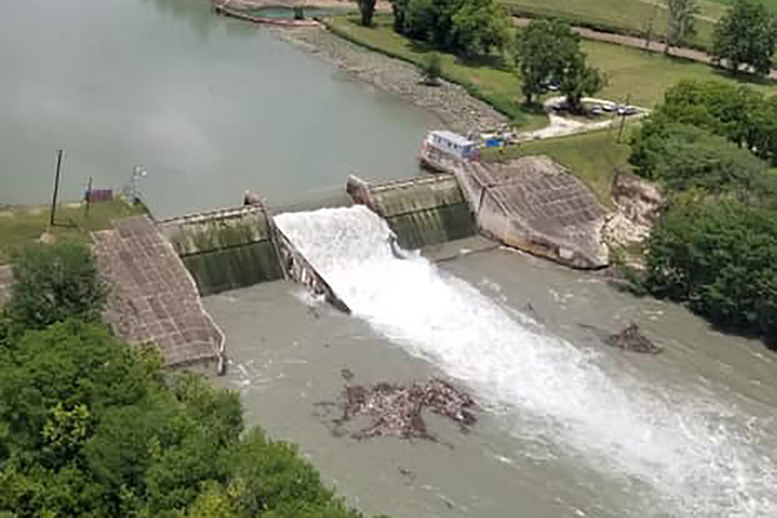 The Lake Dunlap dam experienced a massive spill gate failure the morning of Tuesday, May 14. GBRA warned of dangerous river conditions for recreationists with passing river flows of approximately 11,000 cubic feet per second.