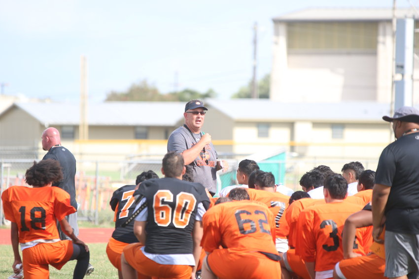 The Gonzales Apaches held their annual scrimmage at their practice field last Saturday, with sub-varsity players competing against each other and later varsity players competing against each other.