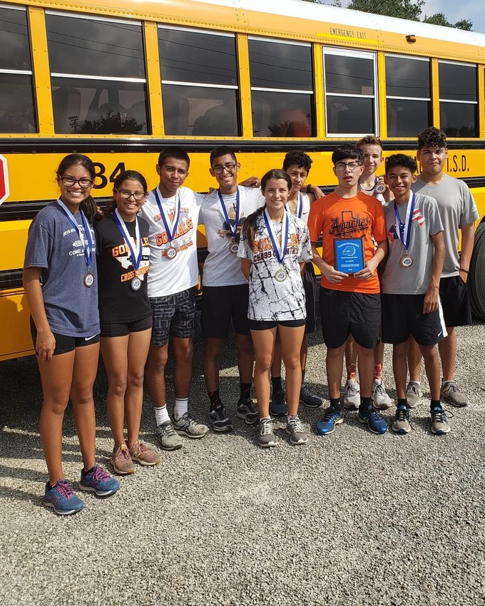 The Gonzales Lady Apaches placed third in the varsity girls race and fourth in the junior varsity race while the boys placed first in the junior varsity race.