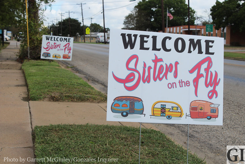 This year's Come and Take It will see an influx of sisters. These signs placed around town are a joint project by some of Gonzales' tourism organizations to welcome the Sisters on the Fly to Gonzales.