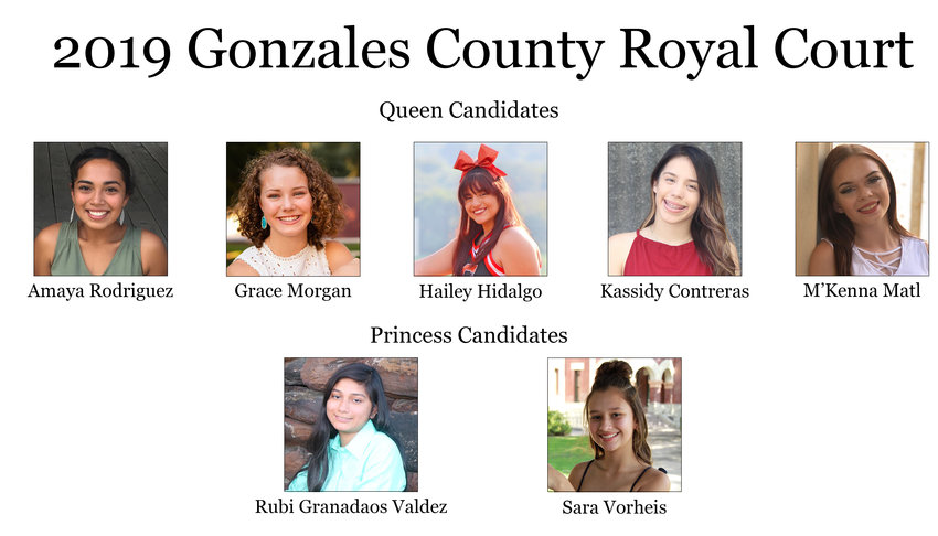 Pictured are the candidates for queen and princess.