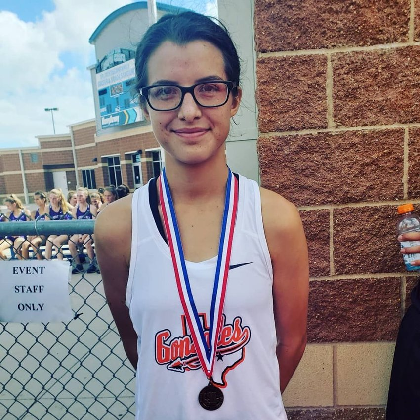 Veronica Moreno is back at the state meet to compete in the UIL Cross-Country State Championships.