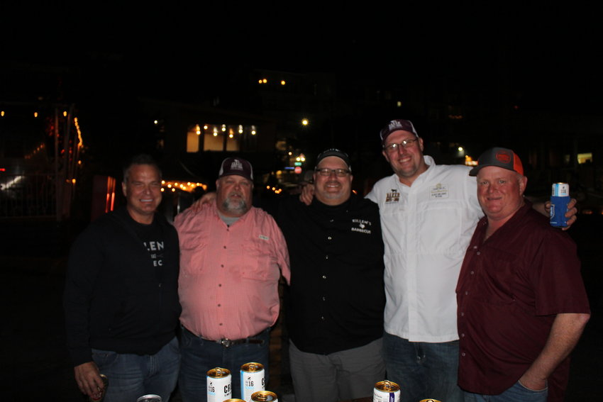 Against the backlighting of the Texas State Capital, Wayne Baker played host at the Franklin and Friends VIP Night in Austin before the Texas Monthly BBQ Festival.