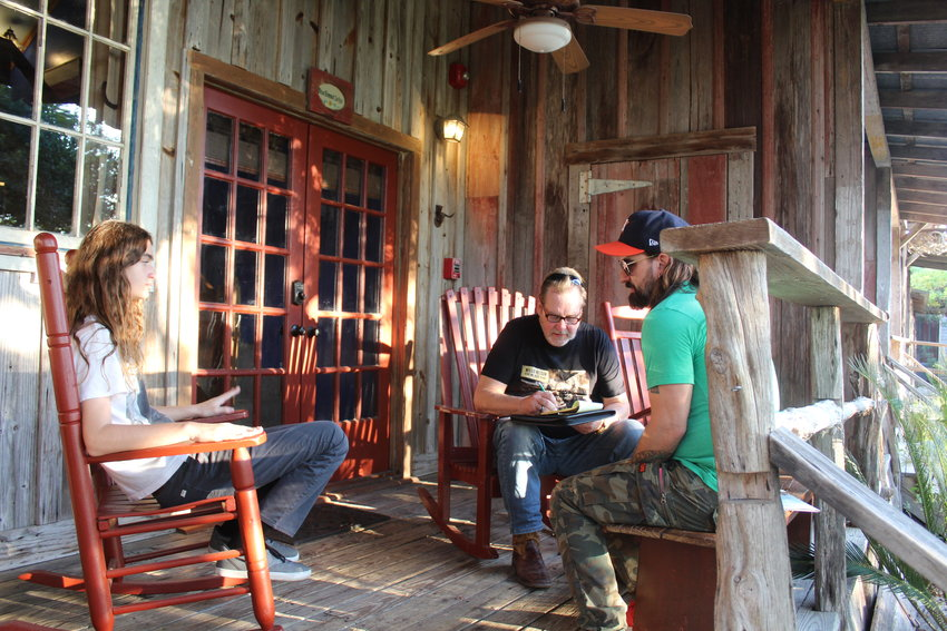 Saturday afternoon, Gonzales Inquirer publisher Terry Fitzwater was fortunate to meet Cody Canada and his son Dierks Cobain Canada just outside of Gruene Hall. They sat down for an interview before the show later that night.