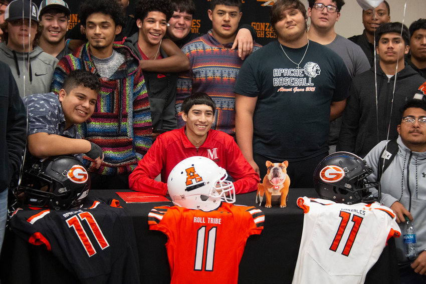 Apaches receiver and defensive back Keisey Ramirez signed a letter of intent to play football at McPherson College in Kansas. Ramirez will play receiver and safety and study engineering at McPherson.