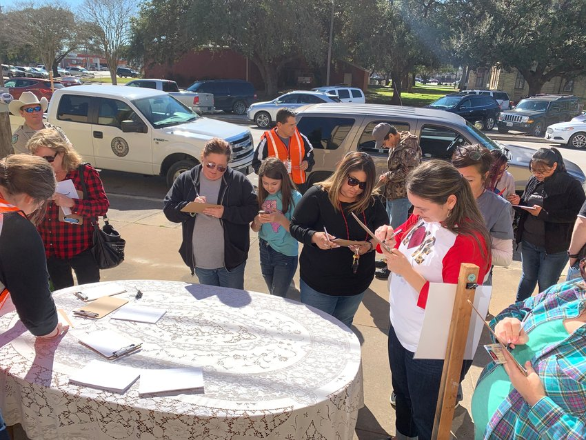 Gonzales ISD underwent an intruder drill last Friday at Gonzales Junior High with the help of students and parents who volunteered their time to conduct the procedure.