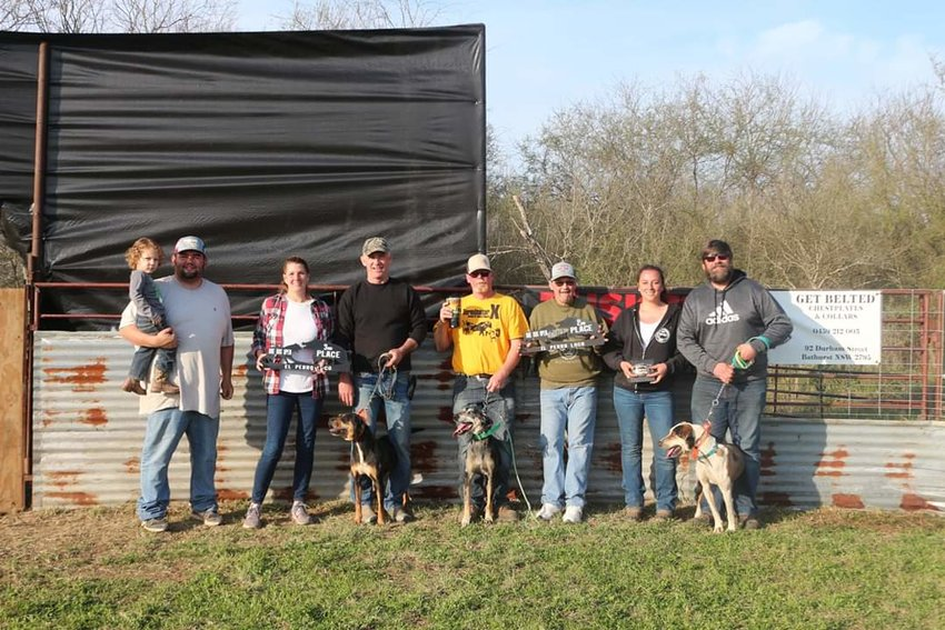 Pictured are some of the winners of the El Perro Loco competition last weekend in Nixon