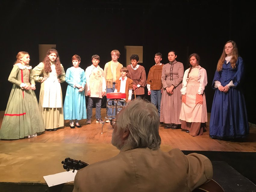 The Young Texians are rehearsing one last time for their performance at The Alamo on Sunday, Mar. 1.