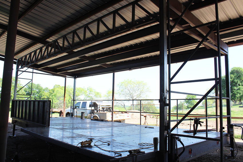 The city of Gonzales has commissioned Mark Metzler and his team to construct a new stage which the city can use for the Summer Concert Series and Come and Take It. The new stage is sturdily built, is extremely functional and easy to fold out and tear down.