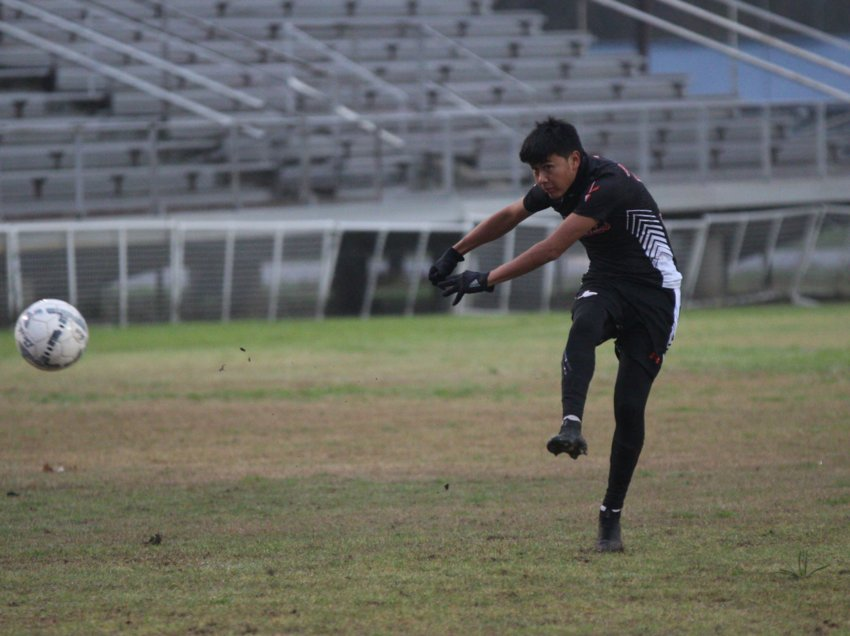 Daniel Cruz (10) was named the overall District 29-4A MVP in this year's shortened soccer season.
