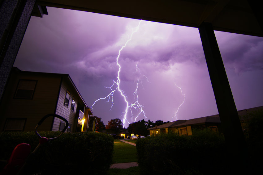 Jose Ledesma took this spectacular photo Wednesday night from his balcony at the Oaks at the Winding Way.