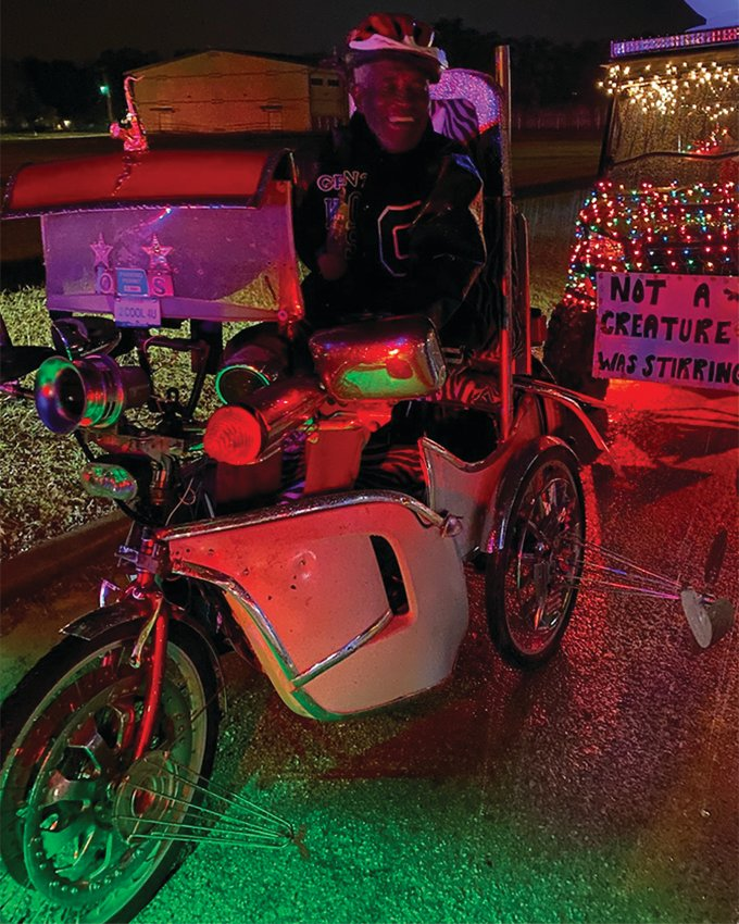 O.S. Grant rides a three-wheel bike during the 2020 Winterfest event on Dec. 5, 2020. He died later that night.