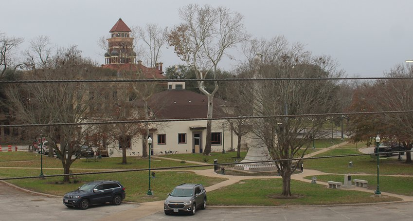 The downtown square commonly known as Jail or Confederate Square was recently renamed Independence Square by the Gonzales City Council. These names came from the proximity to the Old Jail, now a museum, as well as the 50-foot-tall Confederate statue in the square's center.