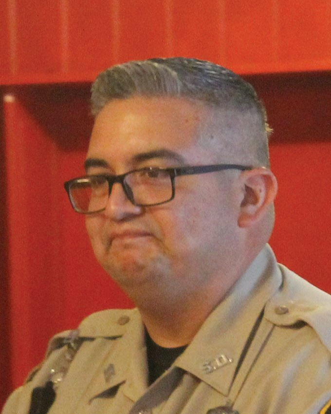 Gonzales County Sheriff's Office Deputy Eric Vasquez was welcomed to his new home by the Smiley City Council after being introduced by Sheriff Robert Ynclan.