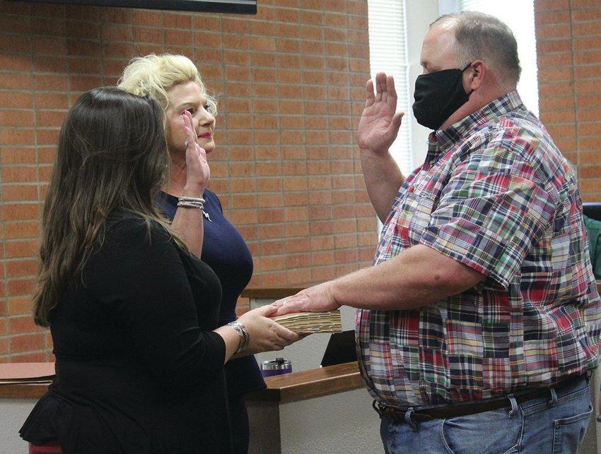 Kridler was sworn in by Mayor Connie Kacir.