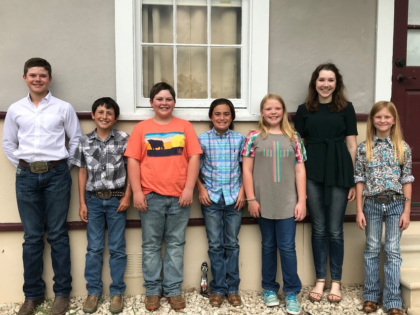 Green Clover 4-H Club officers include, from left, Augustus Sexton, Jaxon Beck, Liam Frederick, Brodi Ramos, Jamesley Hilt, Savay Sexton and Madison Hilt.