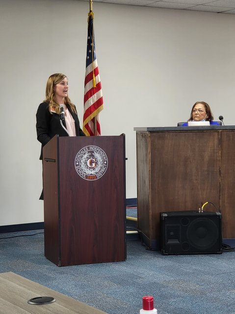 GISD Chief Financial Officer Amanda Smith discusses the district's enrollment and ADA and how it could affect state funding.