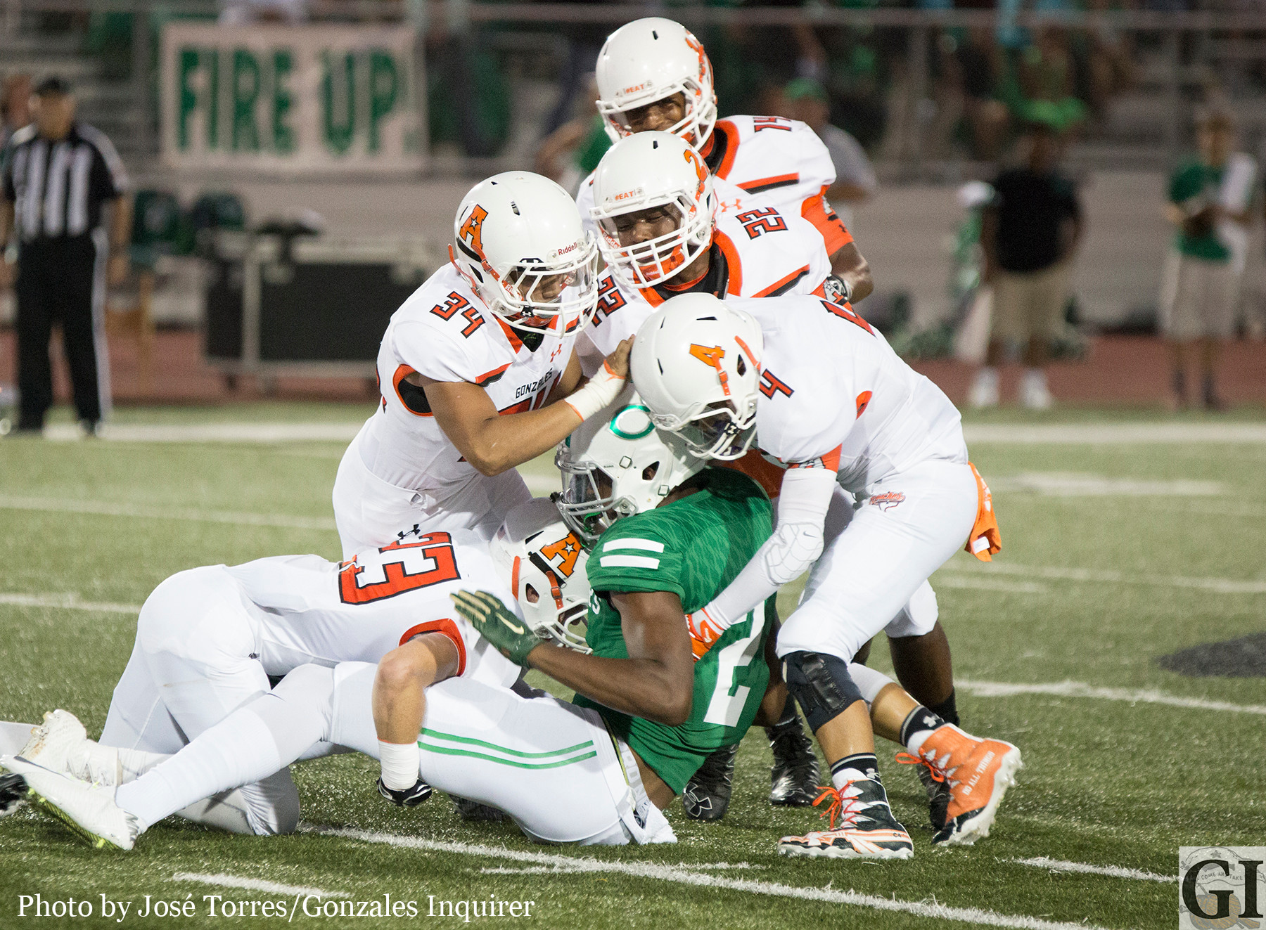 The Apaches defense swarmed Cuero runners in their 60-21 loss Friday night.