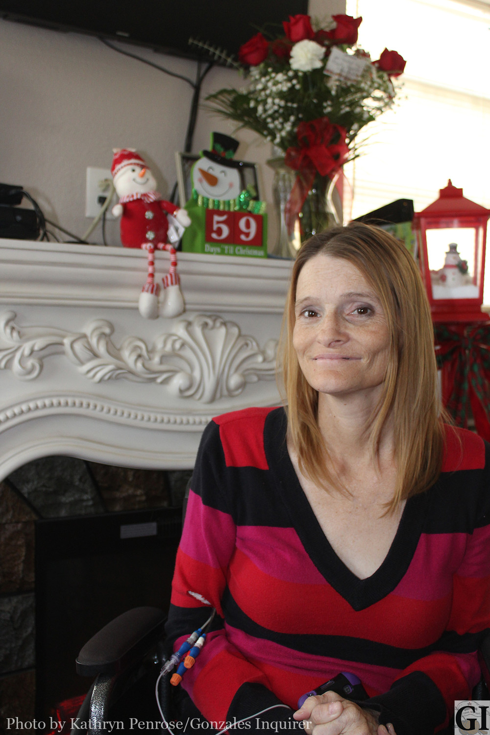 On Friday afternoon, when the cold front started moving in, Becky Cole was home by her fireplace counting down the days until Christmas. Cole's family decorated her house early this year, to stretch out the joy of this coming holiday season by declaring Christmas In October.