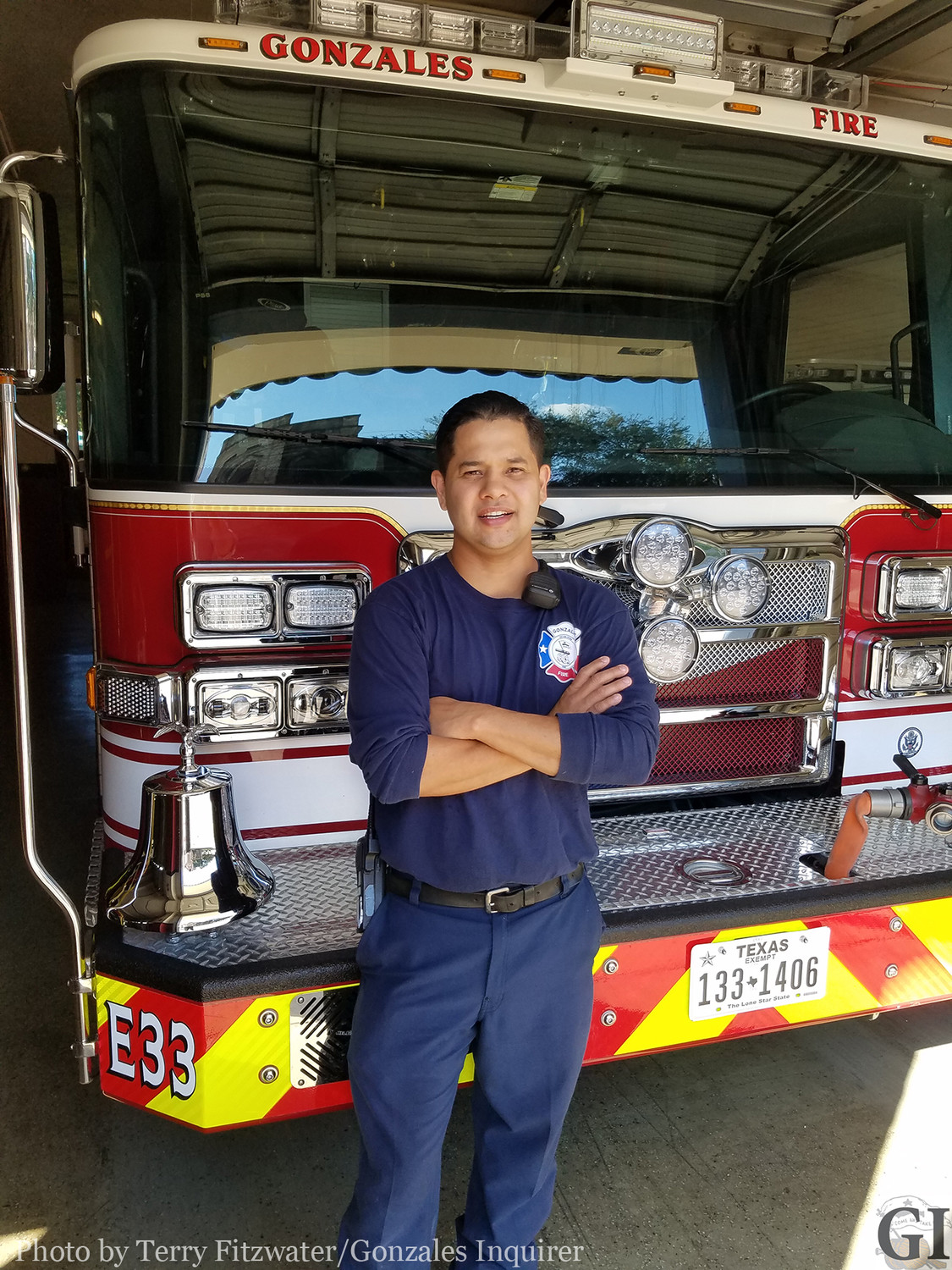 Despite a bit of teasing from the guys at the fire station, Eddie Velazquez enjoyed his time as an extra in filming the T.V. series The Son.