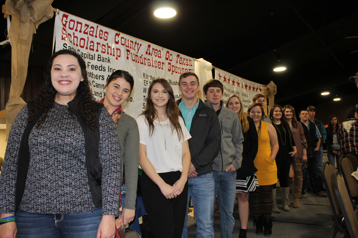 Last year the Gonzales County Area Go Texas Scholarship Fund issued $71,950 in scholarships, to 16 students. These allocations were made through the generosity of donors attending the annual Steak Night Scholarship Fundraiser, held in January; and, through the Gonzales County Area Go Texan Tractor Pull and Cook-off held in September.