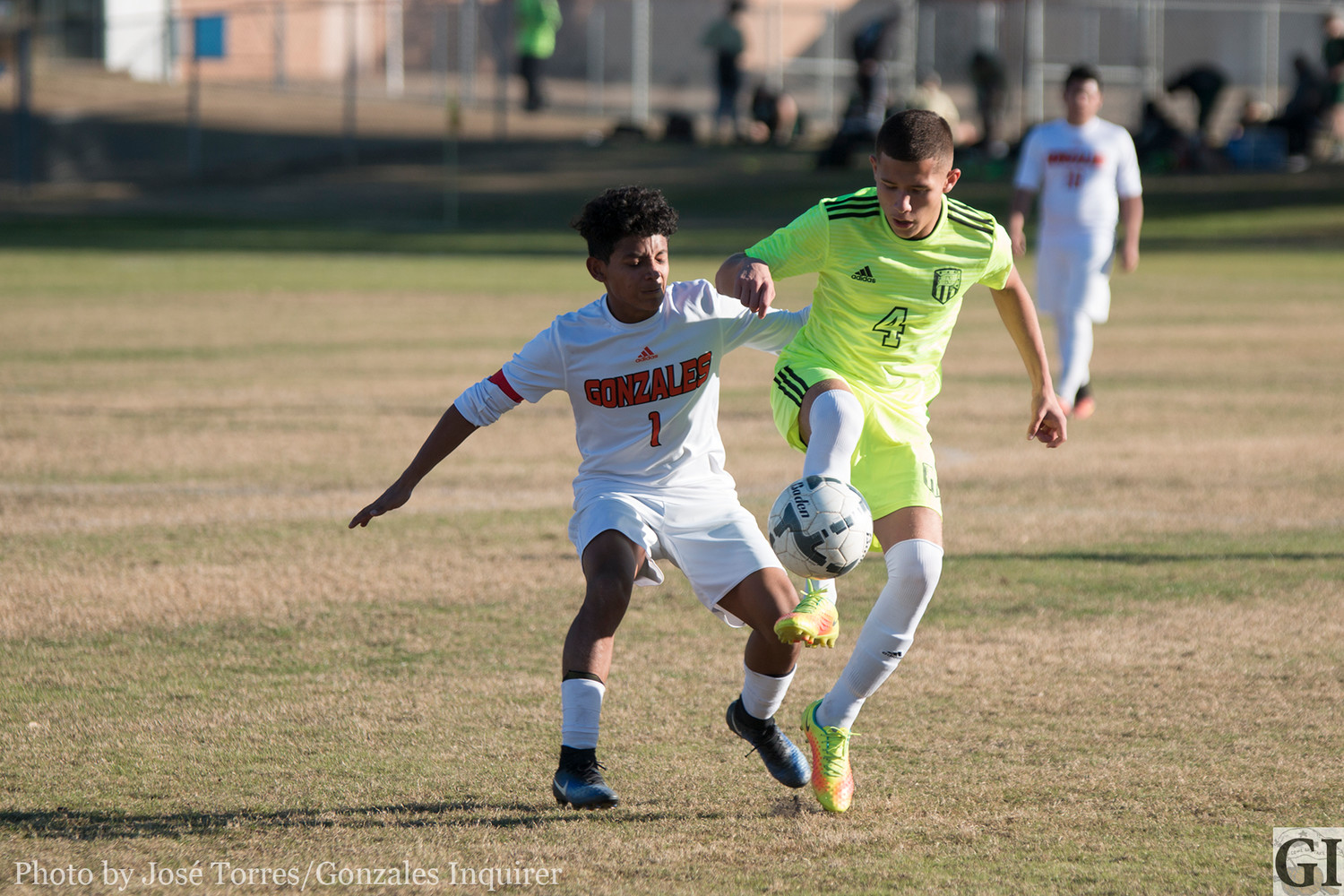 Anthony Veliz (1) was active in the tournament, scoring five of the team's 12 goals as the Apaches won one game and lost two last weekend in Pleasanton.