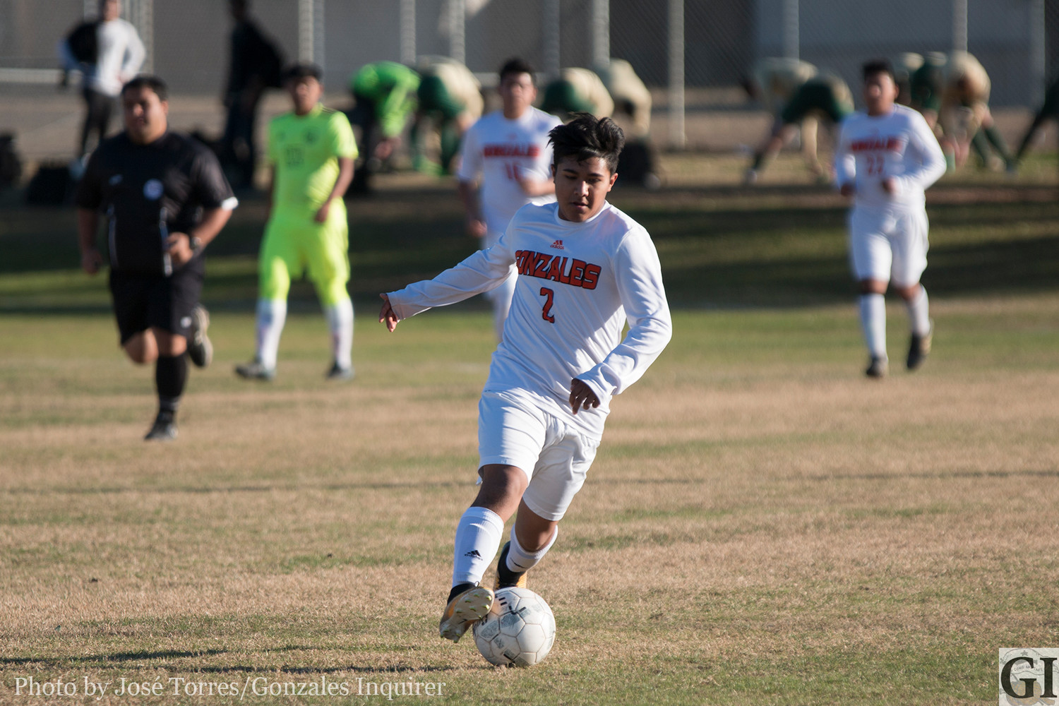 Erbin Orduna (8) came away with two goals during the Pleasanton tournament.