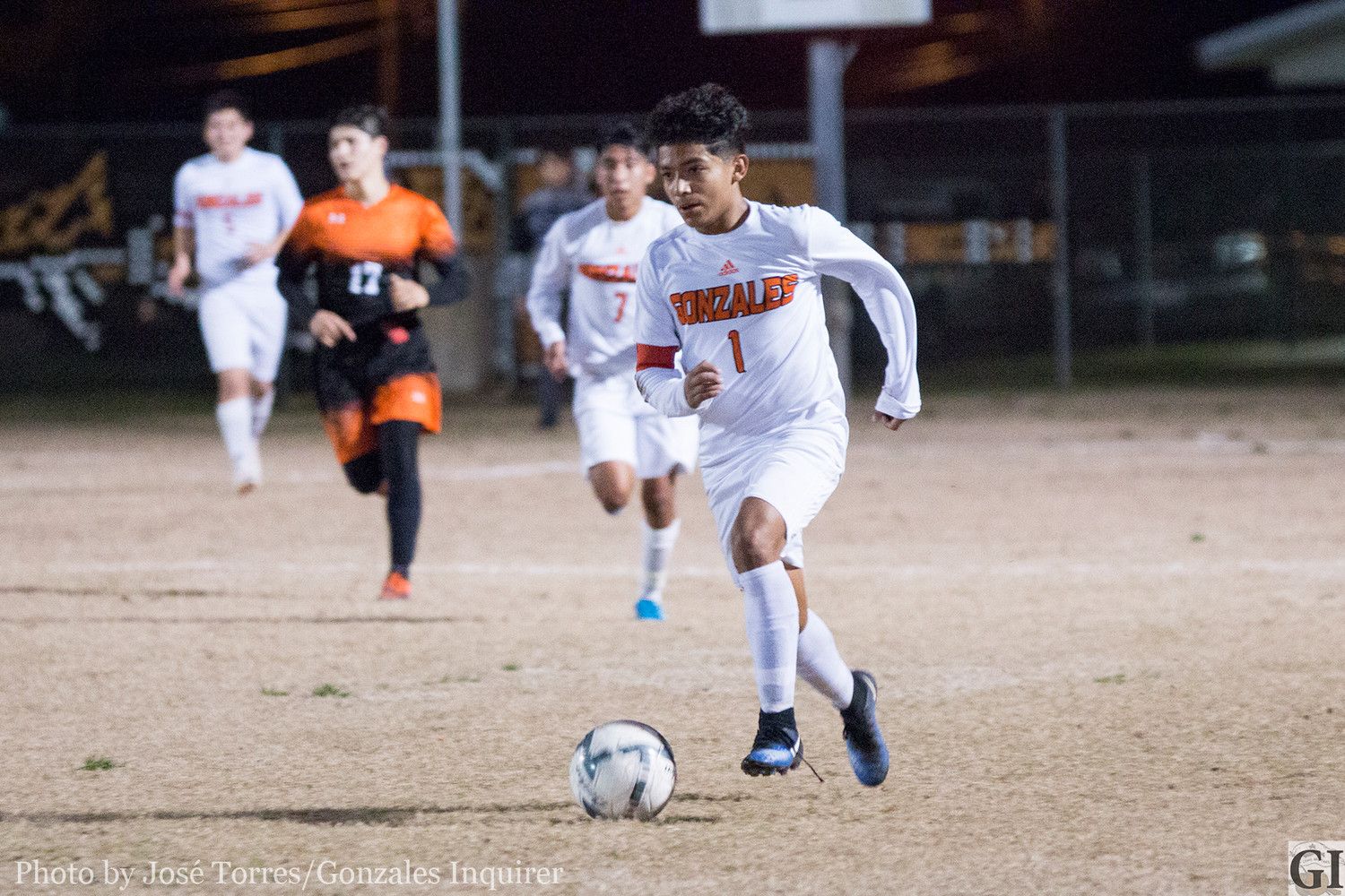 Anthony Veliz (1) scored five of the last 14 goals the Apaches have netted against Smithville and Caldwell.