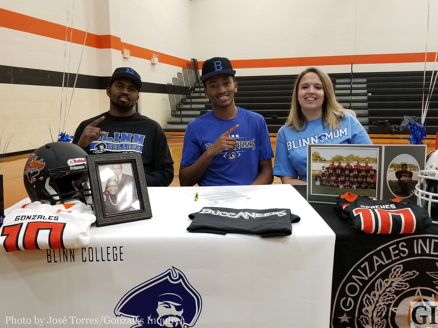 The multi-sport athlete Trevion McNeil officially signed on to attend Blinn College and play football for the Buccaneers.