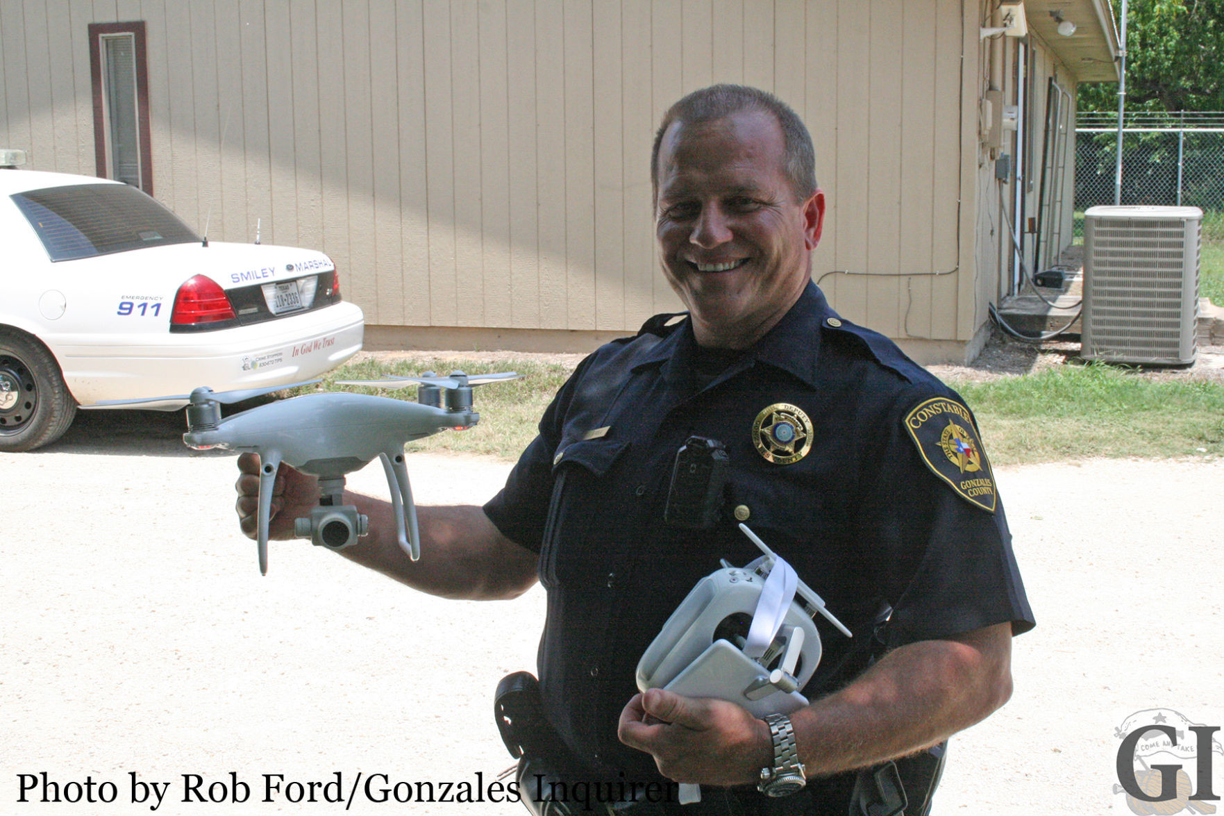"""We've been able to [train] without crashing it!"" Deputy Constable Jerry Airola exclaimed, as deputy officials have been training to use the drone."