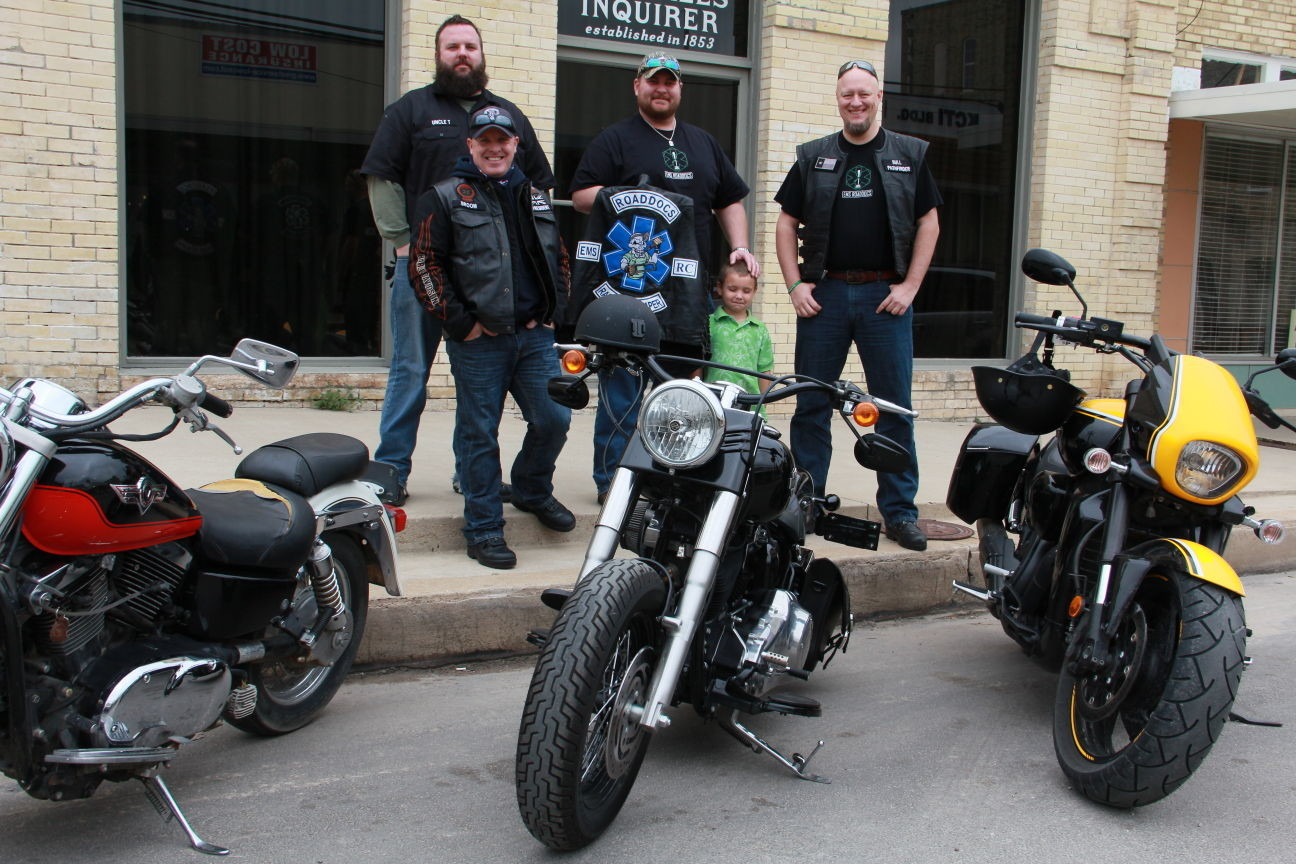 Members of the EMS ROADDOCS were riding around town Wednesday to promote their Code Green Campaign to raise awareness for mental health issues amongst first responders. They will be holding a fundraiser at Cowboy Harley-Davidson of Austin on March 28 to bring awareness to their cause and raise some money for the initiative.