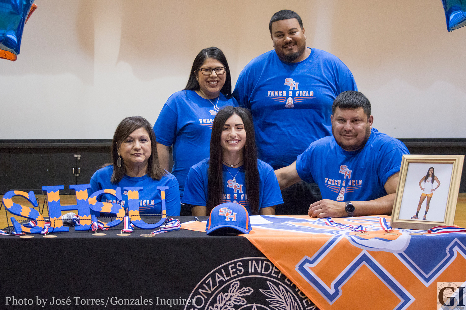 Haley Garza signed on Wednesday to Sam Houston State University to continue her long-distance running career.