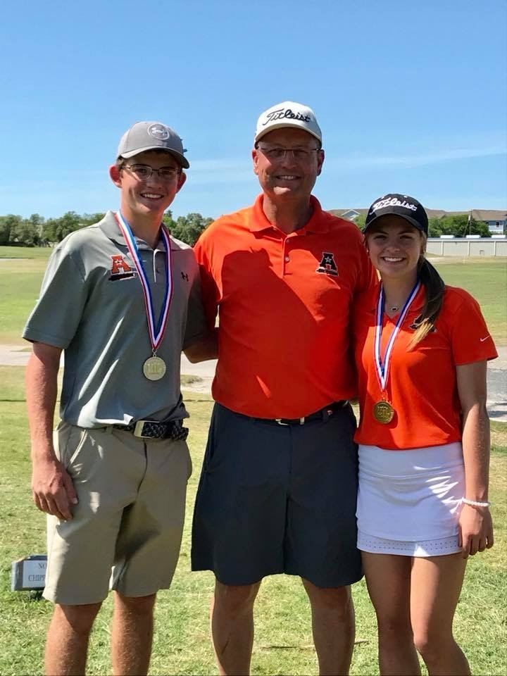 Mason Richter and Kiley Allen are headed to the state golf tournament after medaling in the Region IV-4A golf meet this week. Richter placed second overall while Allen placed third after a three-hole playoff.