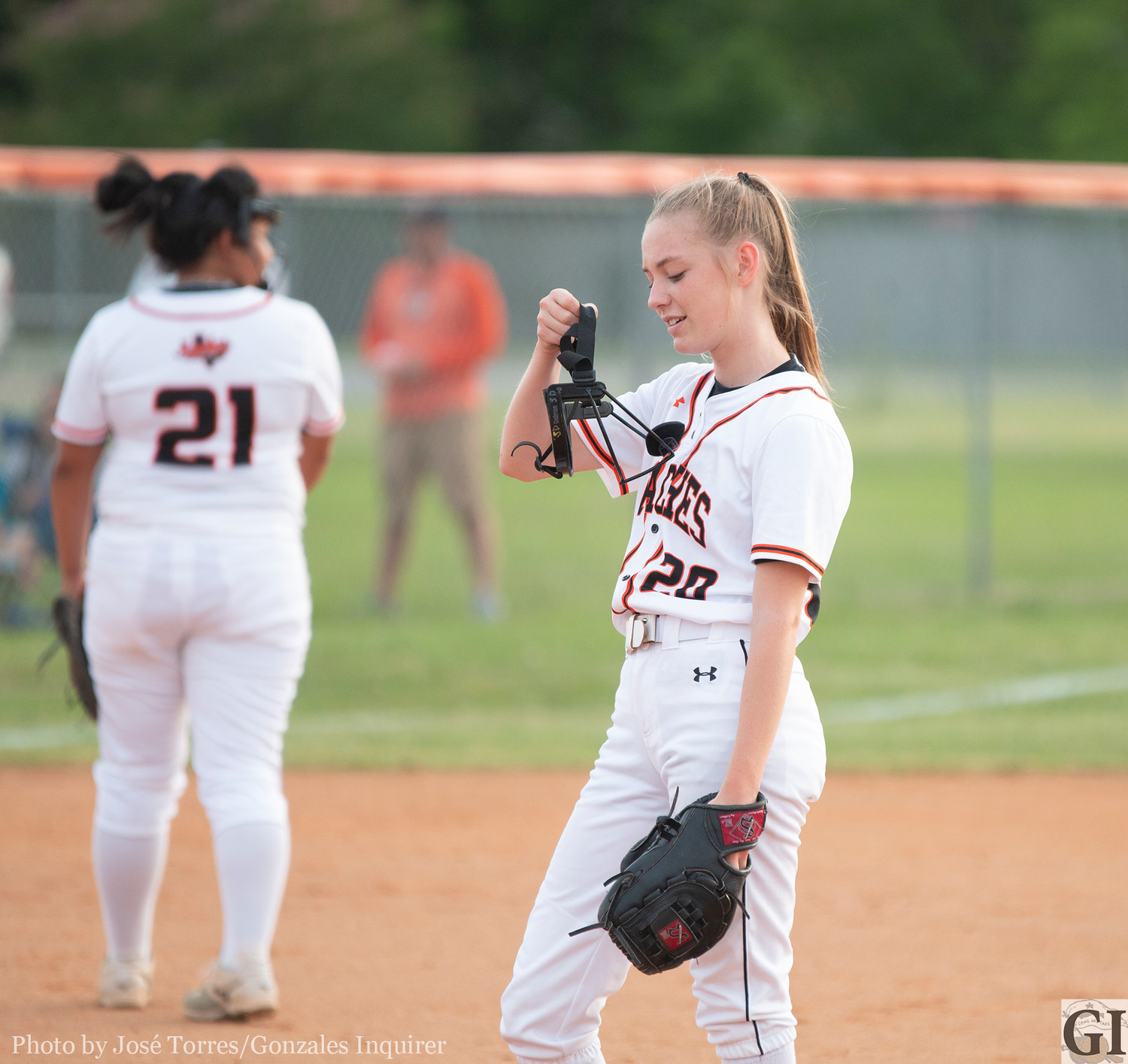 Freshman pitcher and second baseman Shelby Davis was named District 27-4A newcomer of the year.