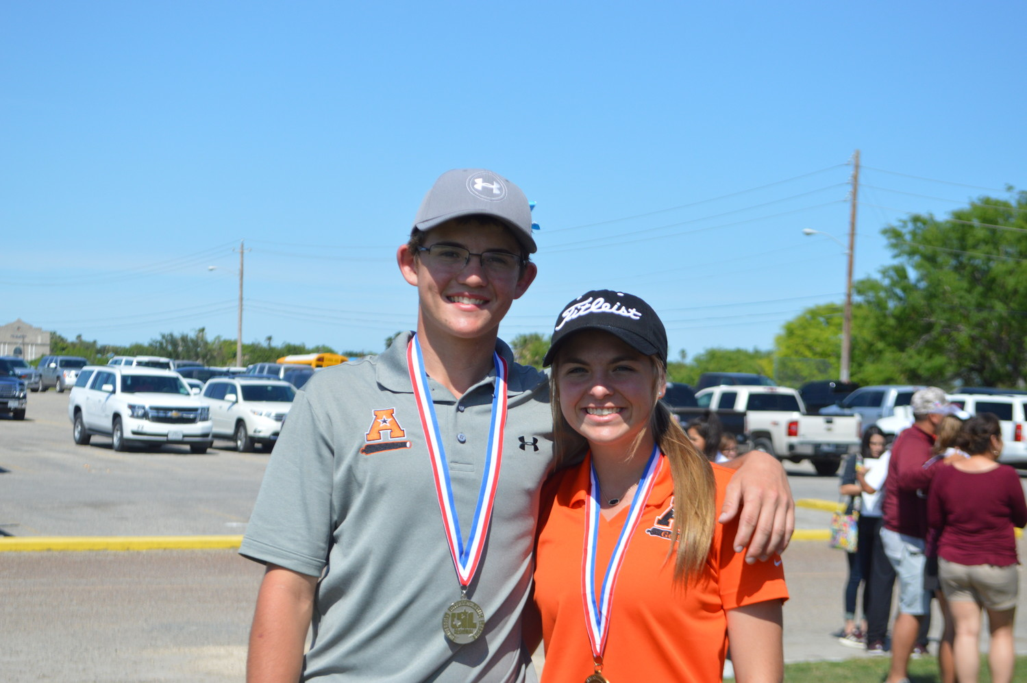 Mason Richter (left) finished middle of the pack in the boys golf state meet earlier this week. Kiley Allen (right) will take on the girls golf state meet this upcoming Monday and Tuesday. Allen's trip to Marble Falls will be her first as a state-qualified competitor.