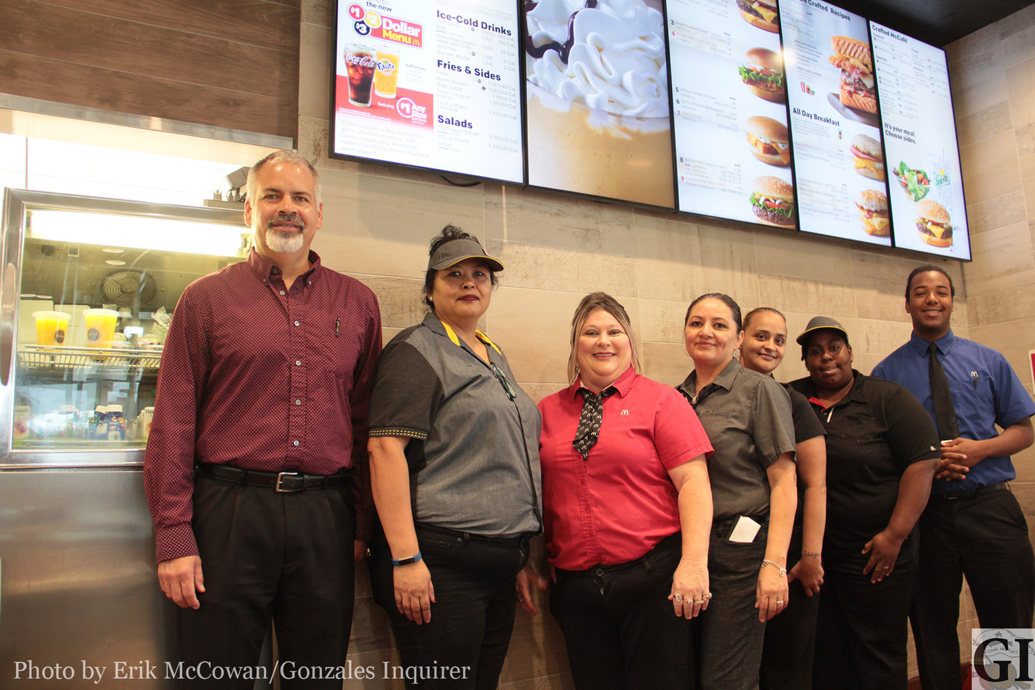 Store owner Robert Wezeman, far left, and his crew are guiding the Gonzales McDonald's into uncharted territory with a new system that offers customer convenience and more menu choices than ever.