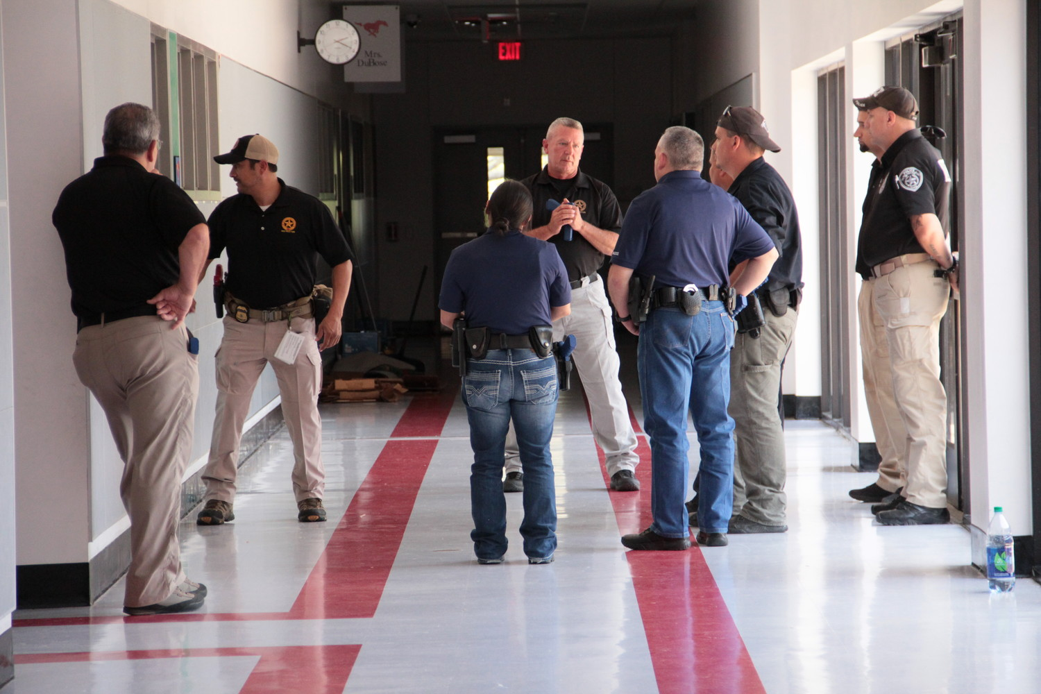 Officers from several agencies attended the ALERRT class at Smiley Elementary. Live scenarios were performed in the very halls where students will return in a matter of weeks.