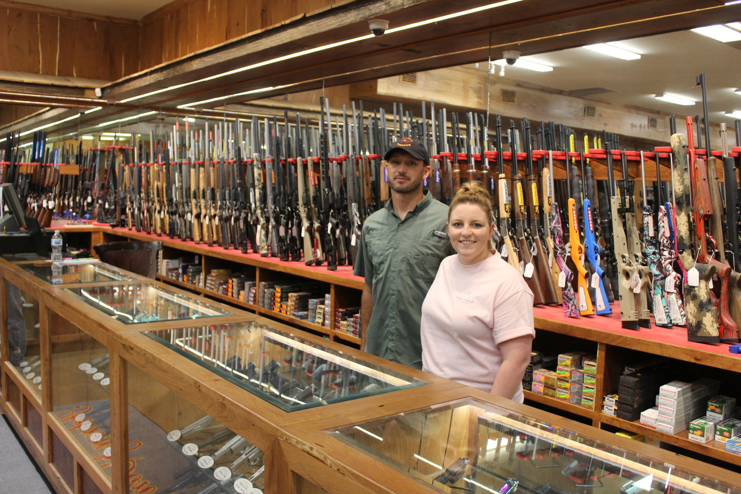 Brandon and Stephanie ran the awesome gun shop at the facility.