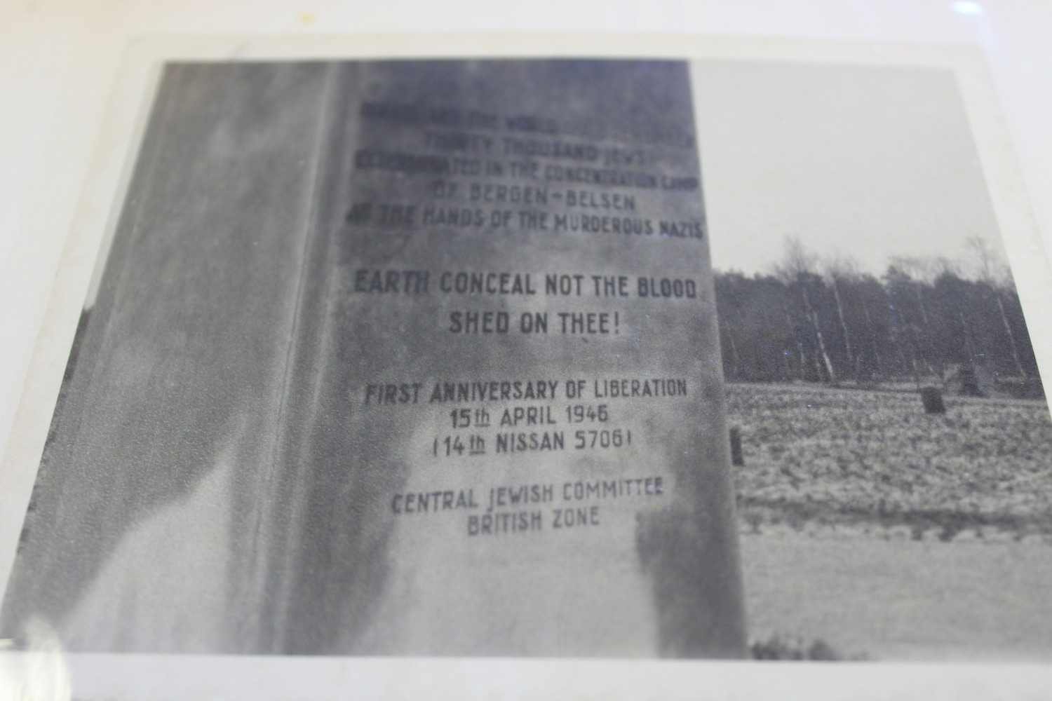 The Bergen-Belsen sign at the entrance to the notorious concentration camp that so moved Maness while stationed in Germany.