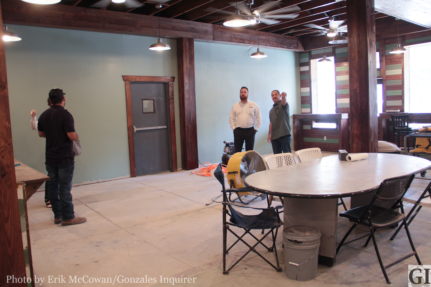 Members of GEDC take a tour of the soon-to-be-opened St. George Deli & Coffee Shop. There are also 7 offices within the complex that will host various small businesses.