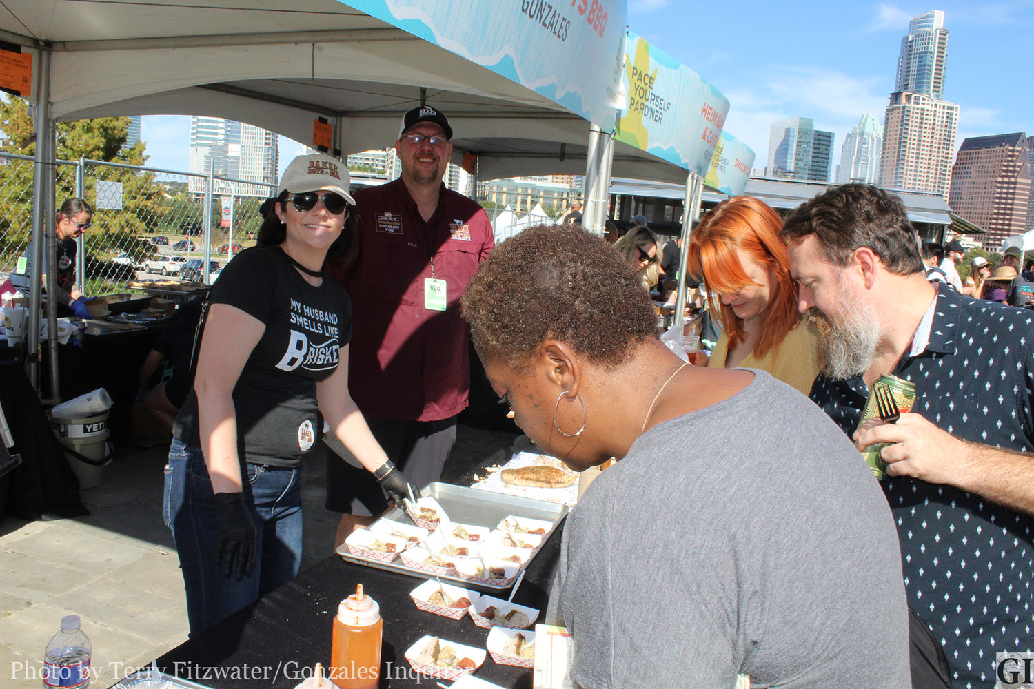 Erin and Wayne Baker served well over 2,000 samples of the great food they cooked on Sunday.