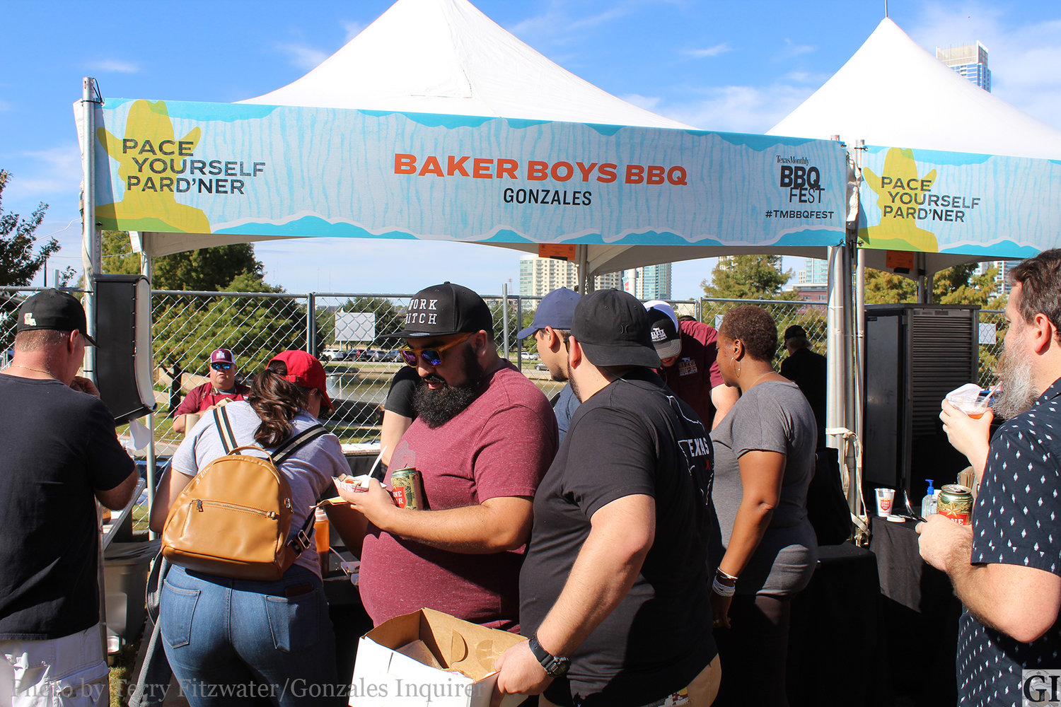 Spectators from all over Texas flocked to the Gonzales' Baker Boys Barbecue on Sunday at the Austin BBQ Fest to sample turkey, sausage and rice.