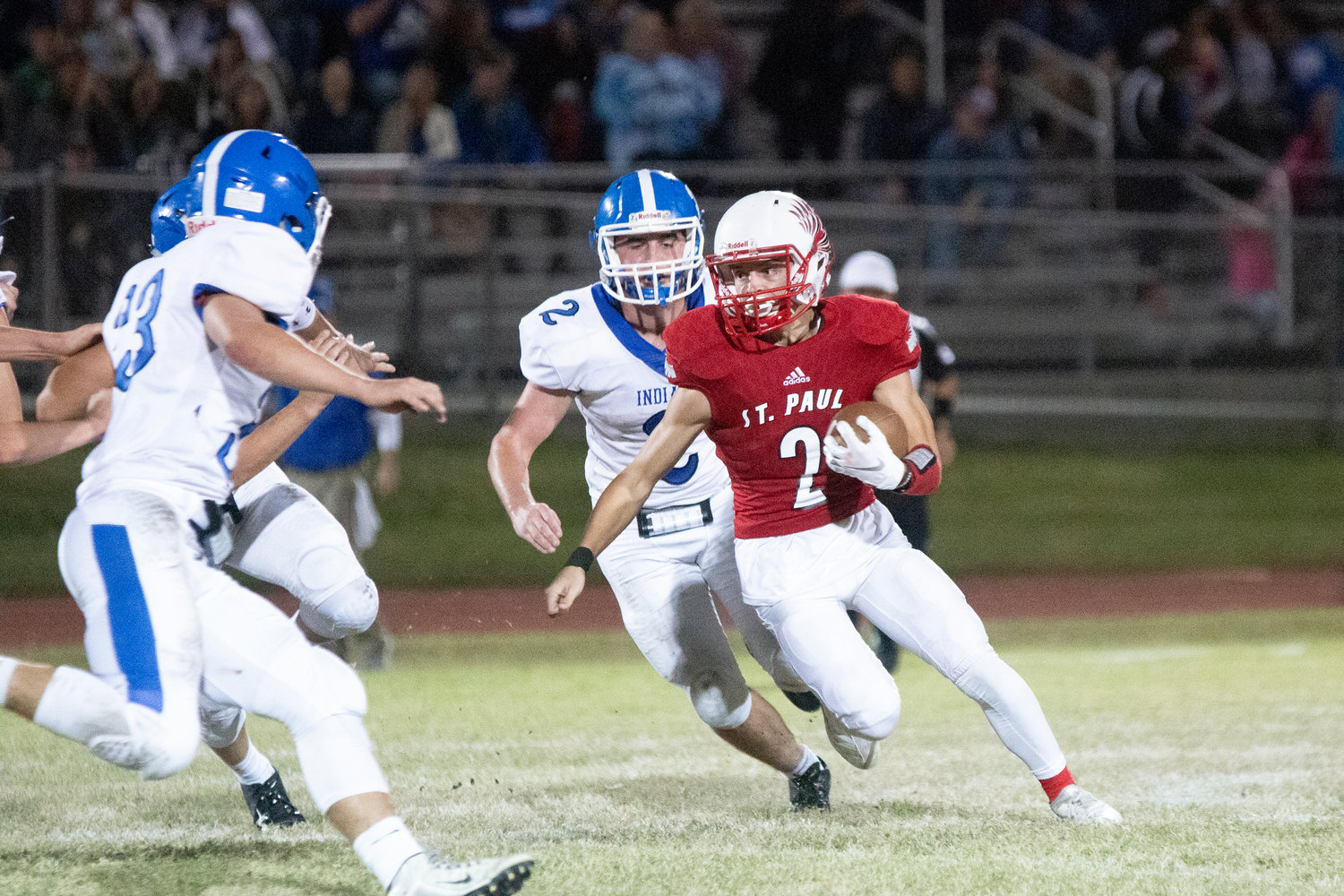 The last time the St. Paul Cardinals faced Sacred Heart twice in one season was in 2012, when the Indians won the regular season but the Cardinals won in the playoffs. St. Paul hopes to repeat history this Saturday.