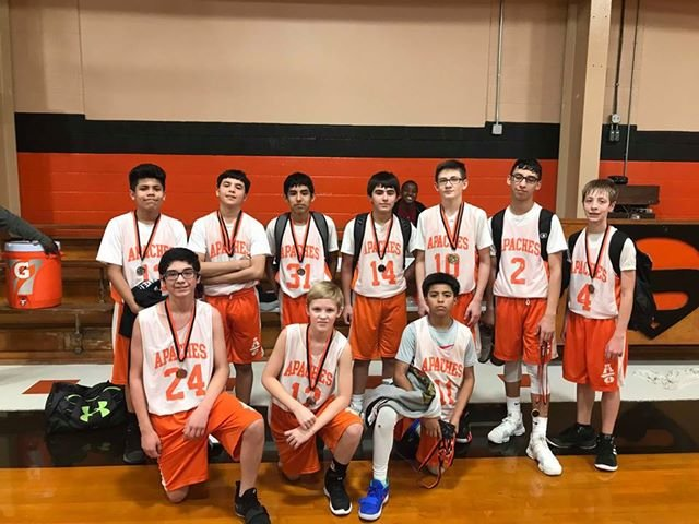 Gonzales 7A boys team won 2nd in the Schulenburg tournament.