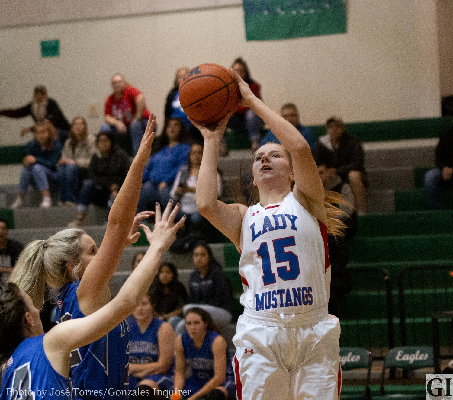 Faith Pullin (15) was named to the first-team all-District 27-3A team.