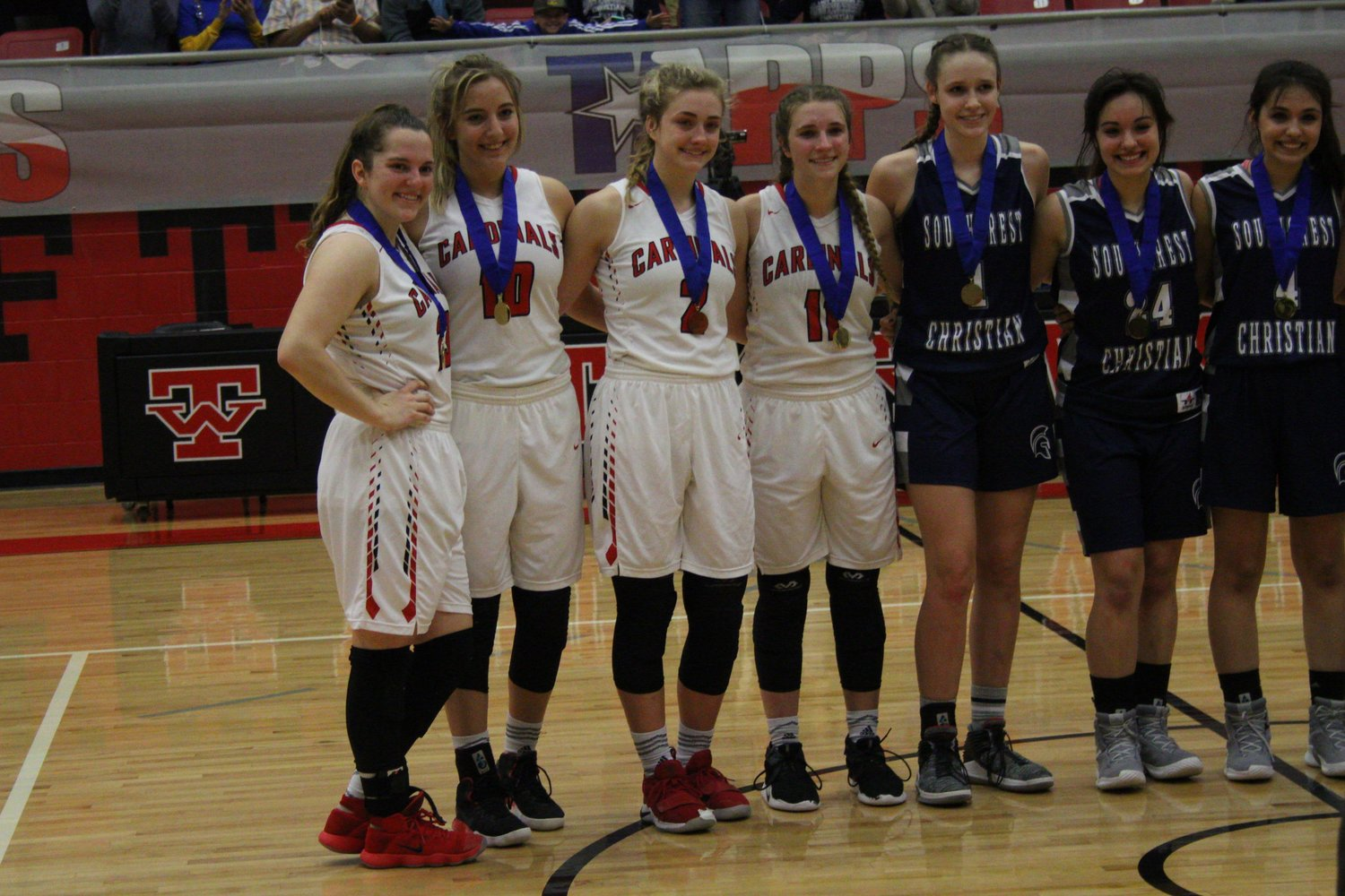 Named to the TAPPS 2A state tournament team were seniors Grace Irvin, Delynn Pesek, Gracey Novosad and Christine Wagner.