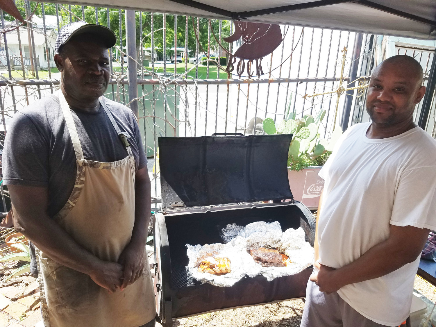A&A Barbecue is an every-other-week fixture on the back patio of Antiques, Art and Beer. The duo of Alvin Brown and his son-in-law Anton Dews sets up shop every other Saturday serving their special barbecue.