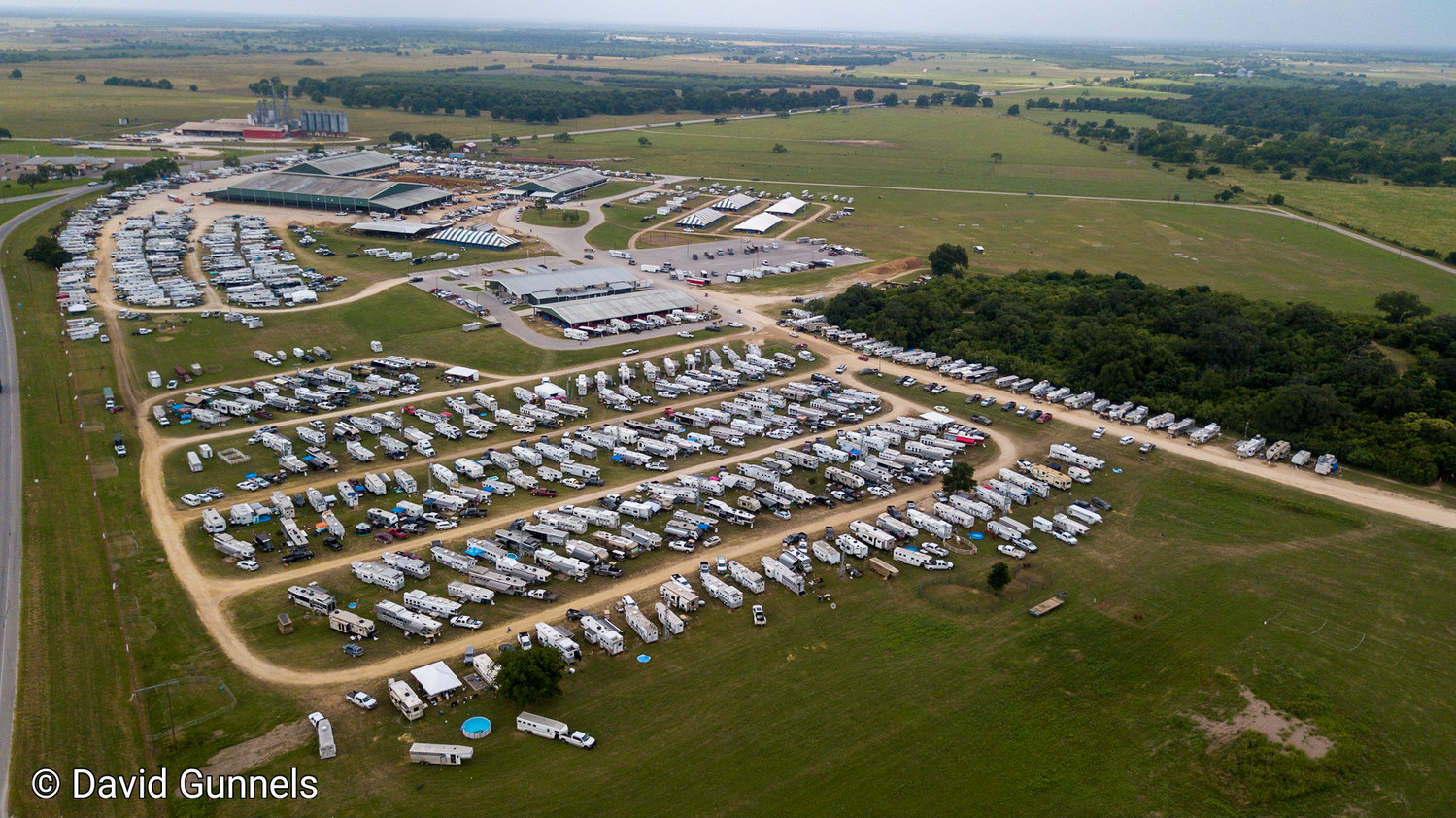 J.B. Wells Park was filled with campers and trailers as state rodeo finalists compete at the TJHRA finals last week.