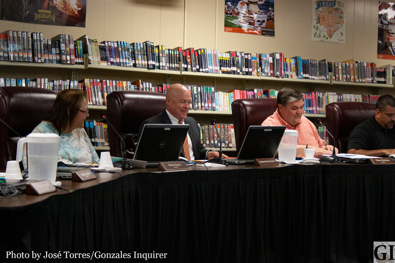 John Schumacher sat front and center for the first time on Monday after officially being hired as Gonzales ISD superintendent in the special meeting.